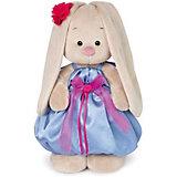 Мягкая игрушка  Budi Basa Зайка Ми в синем платье с розовым бантиком, 32 см