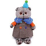 Мягкая игрушка  Budi Basa Кот Басик в комбинированном пальто, 19 см