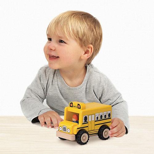 Деревянная игрушка Wonderworld Miniworld Школьный автобус от Wonderworld