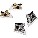 Обувь для куклы Zapf Creation Baby Born Сникерсы, золотые