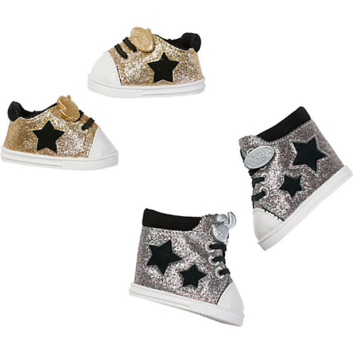 Обувь для куклы Zapf Creation Baby Born Сникерсы, серебряные от Zapf Creation