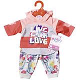 Одежда для куклы Zapf Creation Baby Born Цветочный костюм, красный