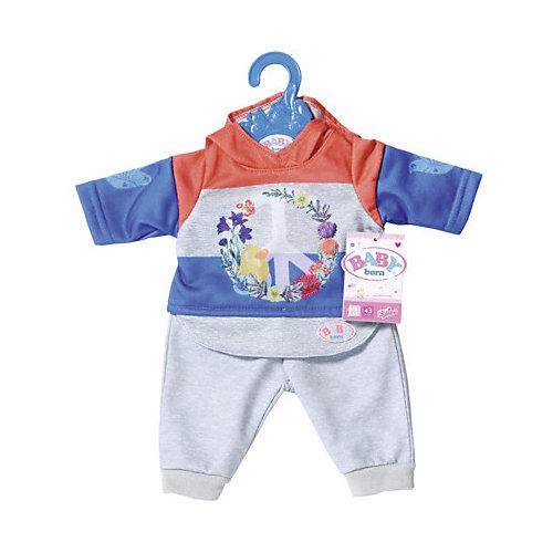 Одежда для куклы Zapf Creation Baby Born Цветочный костюм, синий от Zapf Creation