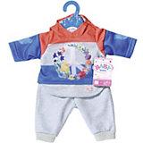 Одежда для куклы Zapf Creation Baby Born Цветочный костюм, синий