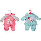 Одежда для куклы Zapf Creation Baby Annabell Костюмчик, розовый