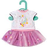 Одежда для куклы Zapf Creation Baby Футболка с балетной юбкой