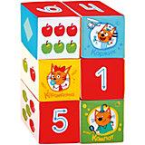"Игрушечные кубики Miakishi ""Три Кота"", математика"
