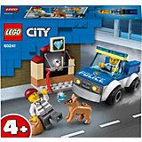 Конструктор LEGO City Police 60241: Полицейский отряд с собакой