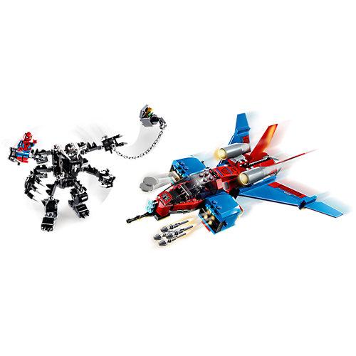 Конструктор LEGO Super Heroes 76150: Реактивный самолёт Человека-Паука против Робота Венома от LEGO