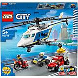 Конструктор LEGO City Police 60243: Погоня на полицейском вертолёте