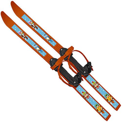 """Лыжи с палками """"Вираж-спорт"""" Птицы 100/100 см - оранжевый от Цикл"""