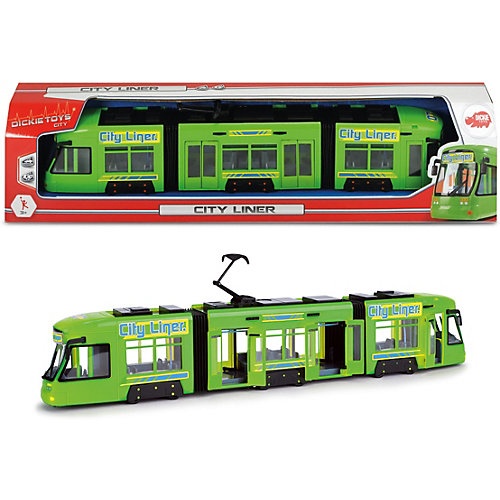 Городской трамвай Dickie Toys зеленый, 46 см от Dickie Toys