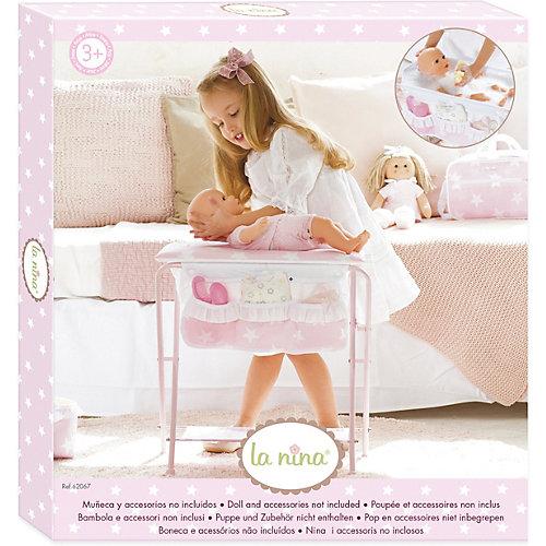 Купальный и пеленальный столик 2х1 для куклы ASI, арт 62067 от La Nina