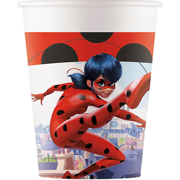 Miraculous Ladybug 8 Pappbecher 200ml Design MIRACULOUS ZAG