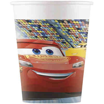 Cars 3 8 Pappbecher 200ml Design Cars 3