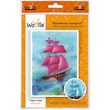 """Набор для творчества Woolla """"Шерстяная акварель. Парус в море"""""""