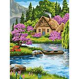 """Картина по номерам Фрея """"Тихая обитель"""",  по дереву"""