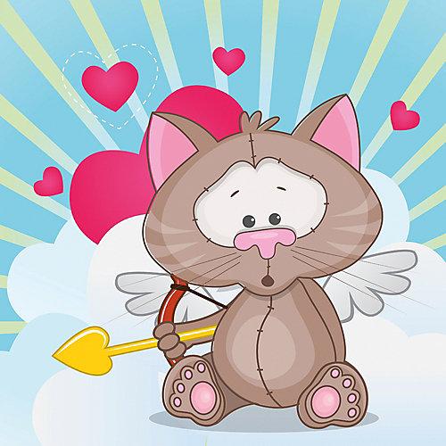 """Картина по номерам Фрея """"Сердечко для тебя"""", картон от Фрея"""