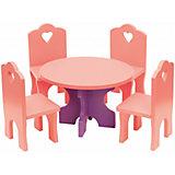 Набор кукольной мебели КРАСНОКАМСКАЯ ИГРУШКА Столик с четырьмя стульчиками