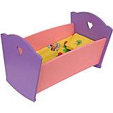 Набор кукольной мебели КРАСНОКАМСКАЯ ИГРУШКА Кроватка с постельным бельем