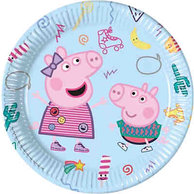 Peppa Wutz 8 Pappteller 23 cm Design Peppa Pig Messy play