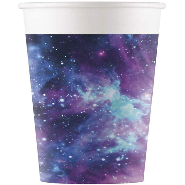 Party 8 Pappbecher 200ml Design Galaxy Party, Procos f2fZR9