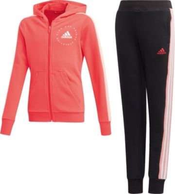 Jogginganzug HOOD COT TS für Mädchen, adidas Performance