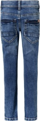 Mädchen 2 Stück Jeanshose Jeggings Größe 86 Jeans 2-er Pack dark blue gestreift