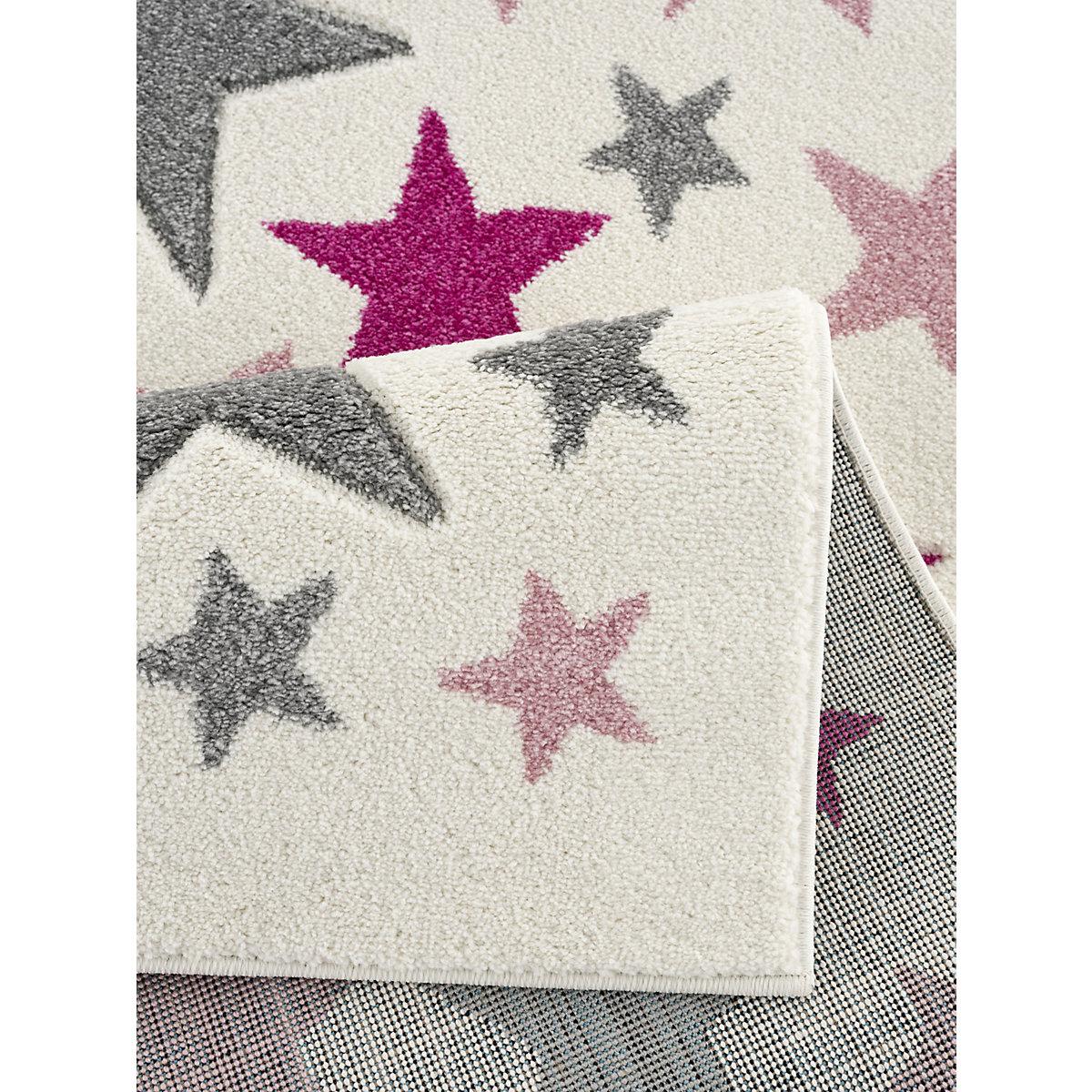 Kinderteppich STELLA creme/silbergrau-rosa 120 x 180 cm Happy Rugs lrBE8