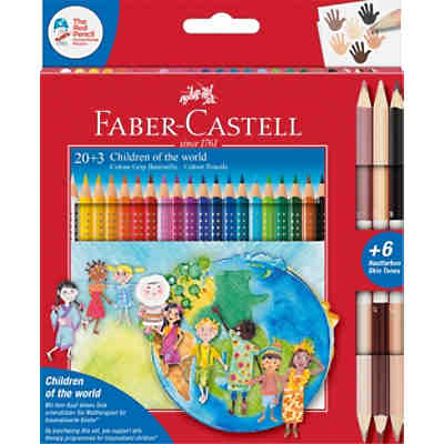 "Charité-Set ""Children of the World"" Buntstifte Colour Grip 20 & 3"