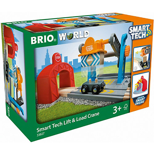 Игровой набор Brio Smart Tech Туннель с подъёмным краном от BRIO