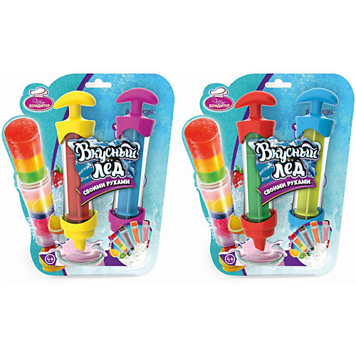 Вкусный лёд Шеф-кондитер (2 шприца) - разноцветный от Шеф-Кондитер