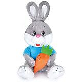 Мягкая игрушка Maxi Play Зайчонок с морковкой озвученный, 21 см