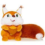 Мягкая игрушка Белка с орешком озвученная, 18 см