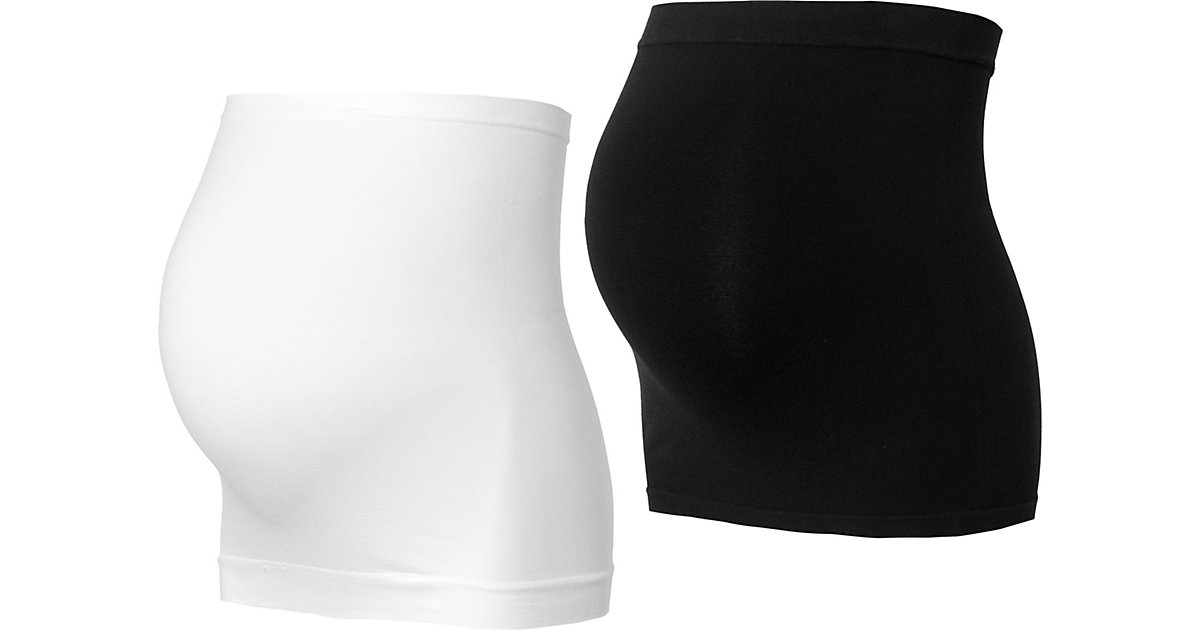 MLCARA COTTON BUMPBAND 2-PACK O. A. - Gürtel - weiblich schwarz/weiß Gr. one size Damen Kinder