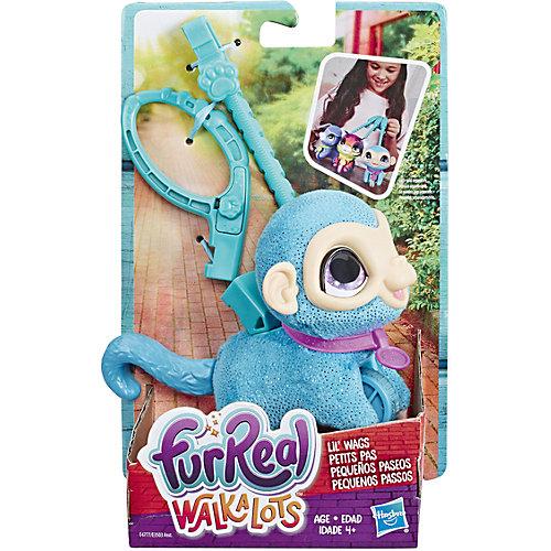 "Мягкая игрушка FurReal Friends ""Маленький питомец на поводке"" Обезьянка от Hasbro"