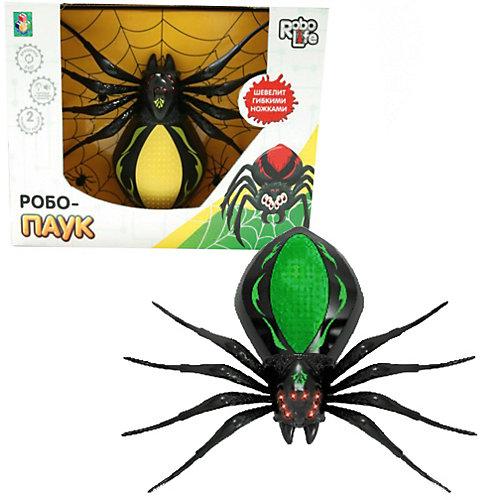 Радиоуправляемая игрушка 1Toy RoboLife Робо-паук, чёрно-зелёный от 1Toy