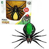 Радиоуправляемая игрушка 1Toy RoboLife Робо-паук, чёрно-зелёный