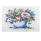 """Набор для раскрашивания по номерам Цветной """"Нежные цветы в белой вазе"""""""