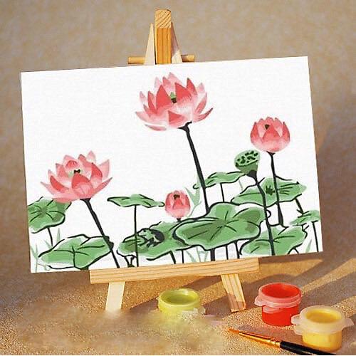 """Набор для раскрашивания по номерам Цветной """"Розовые цветы"""""""