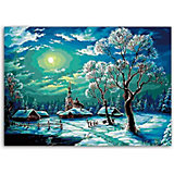 Набор для раскрашивания по номерам. Зимний ночной пейзаж