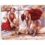 Набор для раскрашивания по номерам. Балерины в красном
