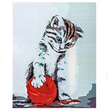 """Набор для раскрашивания по номерам Цветной """"Котенок с красным клубком"""""""