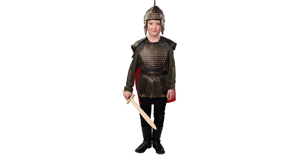 Kostüm Römischer Soldat gold-kombi Gr. 140 Jungen Kinder