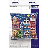 """Набор для вышивания Panna """"Подушка: зимний городок"""""""