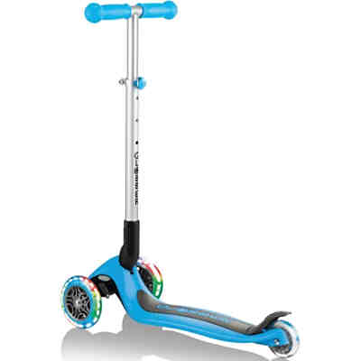 Scooter PRIMO FOLDABLE, Leuchtrollen, sky-blue