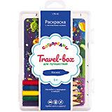 """Набор для раскрашивания Сотворелки. Travel-box для путешествий  """"Космос"""", (30 листов)"""