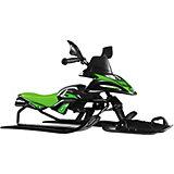 Снегокат-снегоход Small Rider Scorpion Solo, черно-зеленый