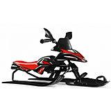 Снегокат-снегоход Small Rider Scorpion Solo, черно-красный
