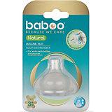 Соска силиконовая средний поток Baboo Natural с 3 мес